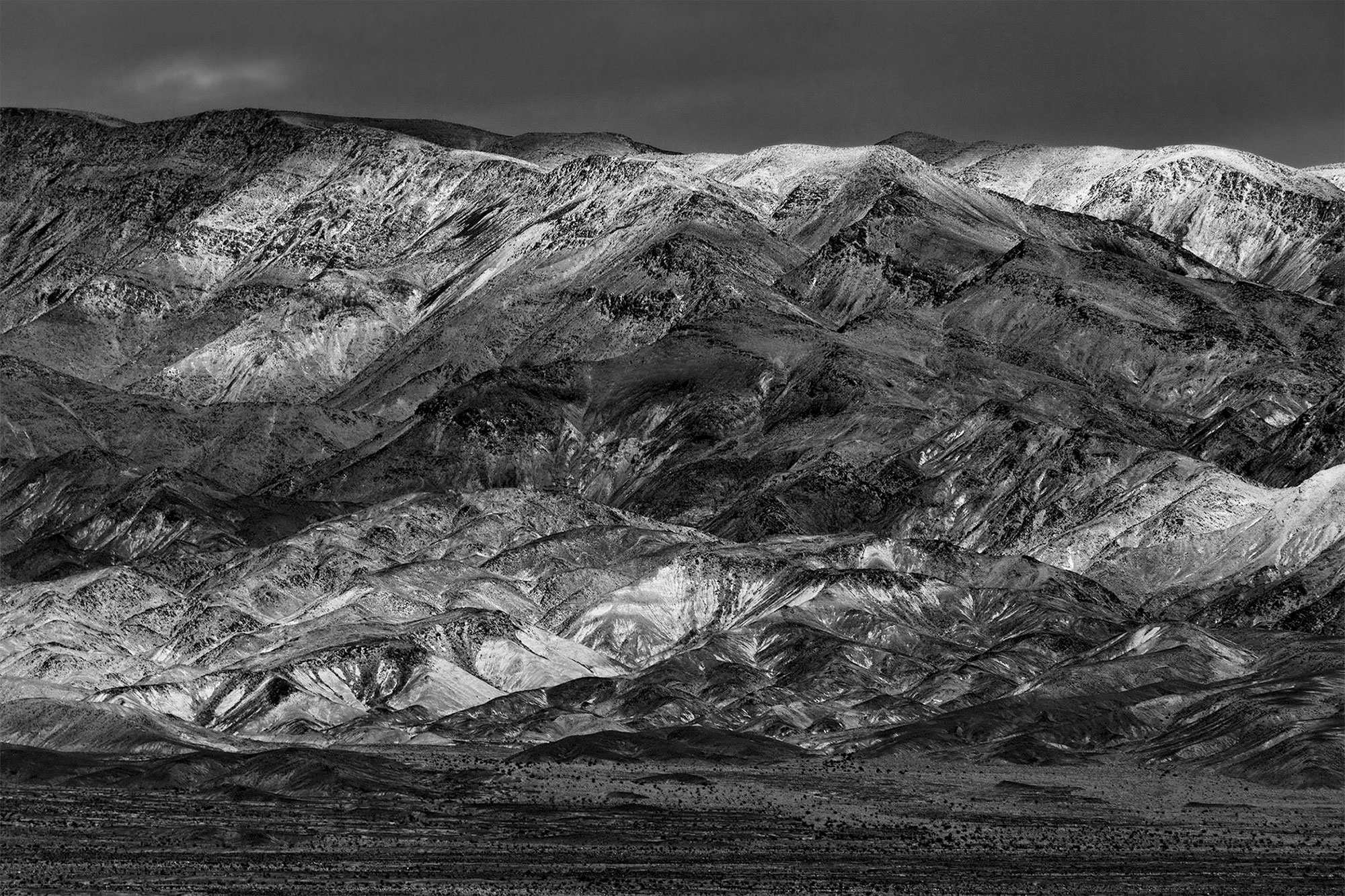 Black and White landscapes of Death Valley-Grapevine
