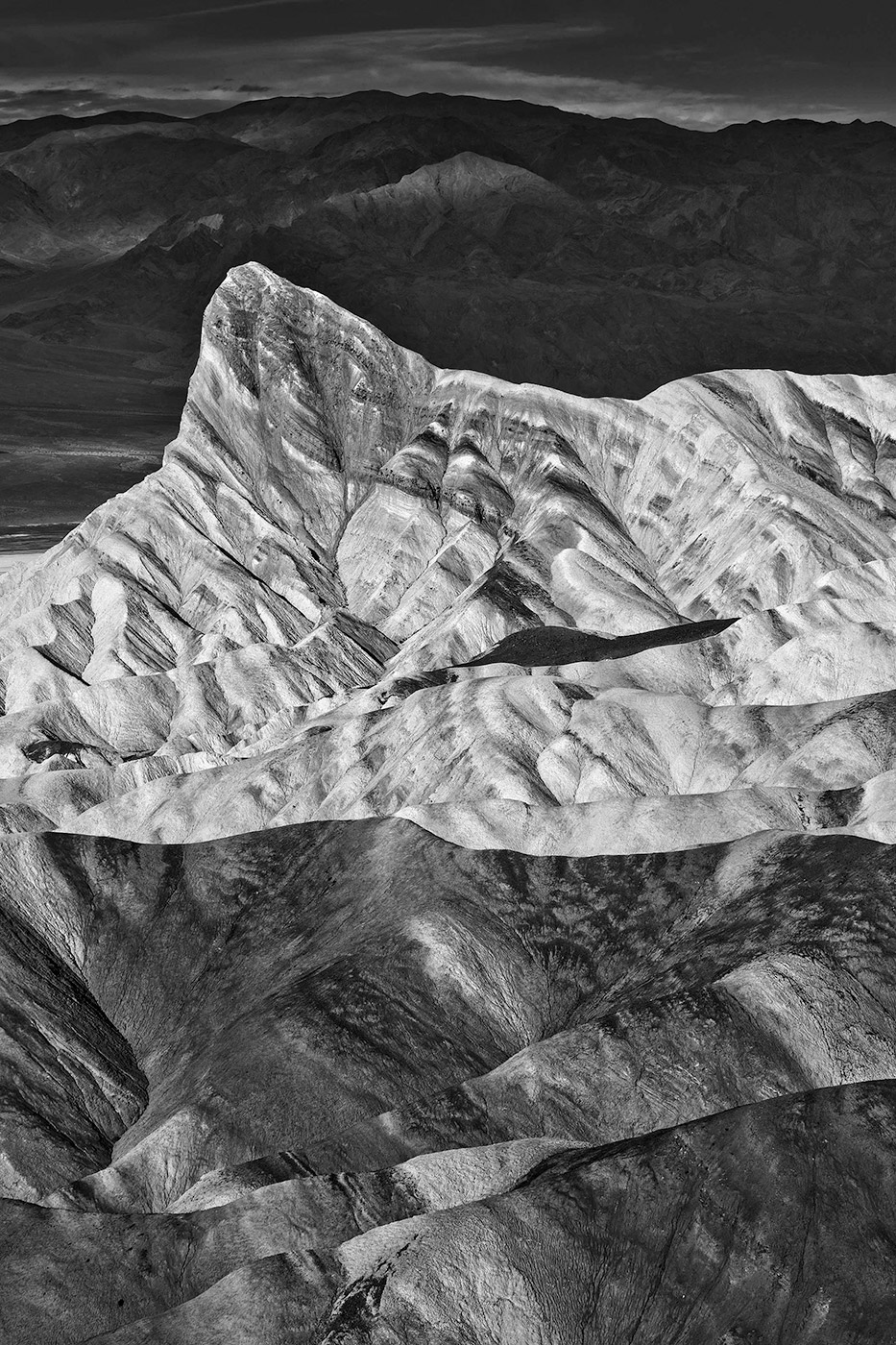 Black and White landscapes of Death Valley-Peak