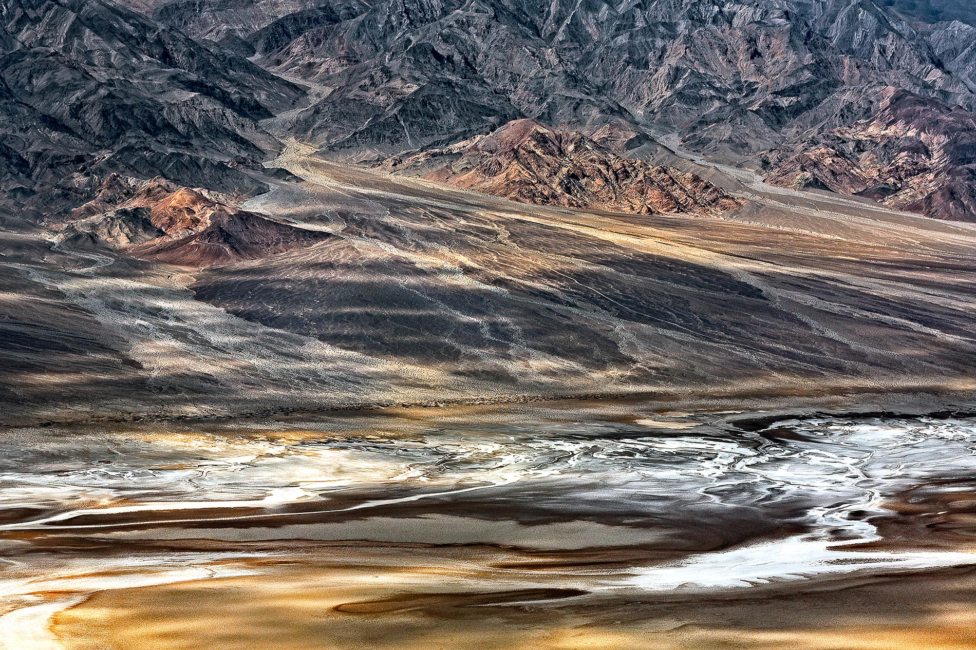 Abstract photograph mountains Death Valley-Valley Streams