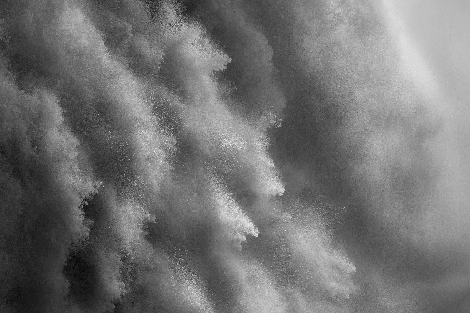 Black and White abstract photograph of Niagara Falls-Might-Fine Art Photograhy