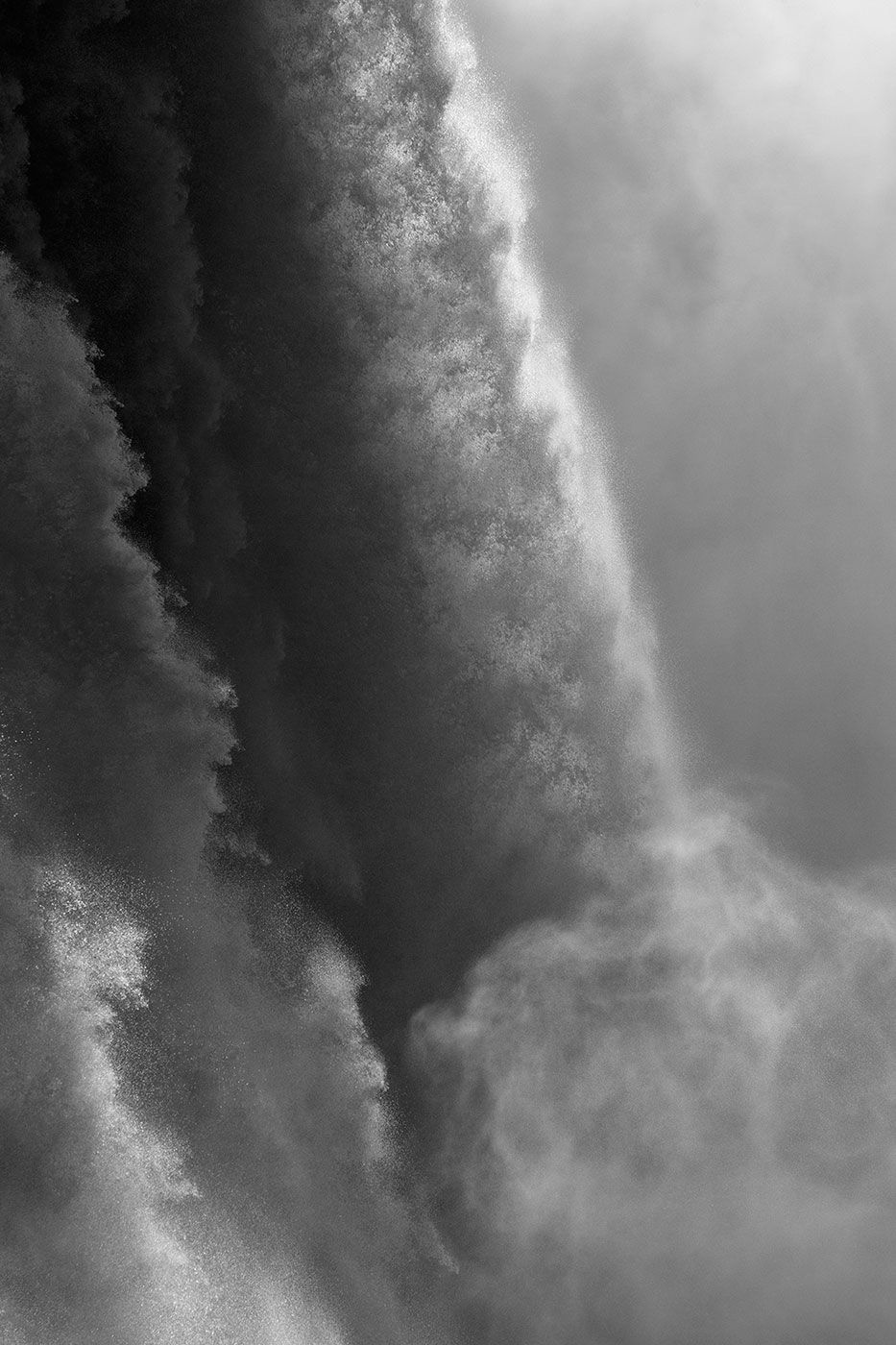 Black and White abstract photograph of Niagara Falls-Fine Art Photograhy