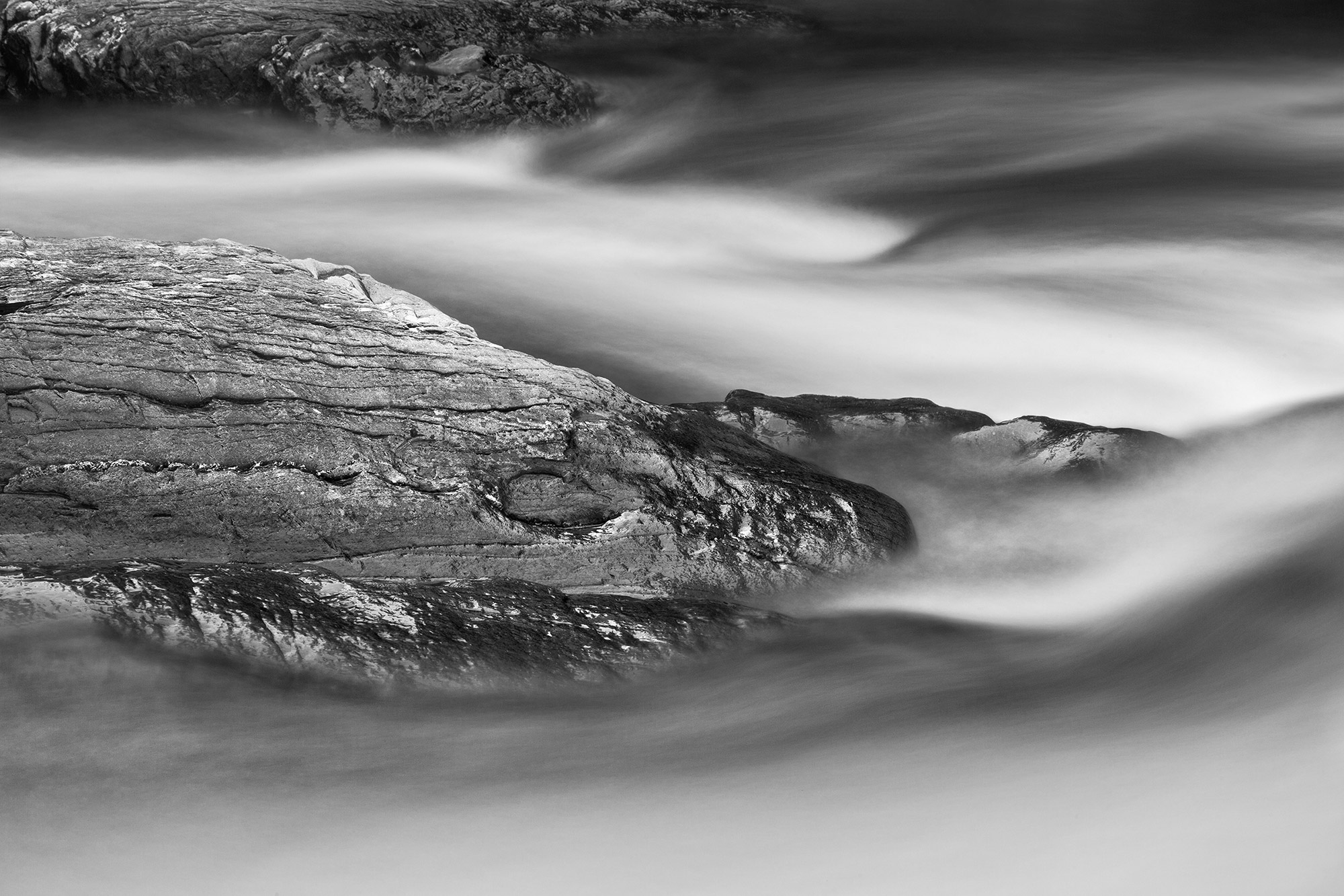 Water abstract created in Great Smoky Mountains-Serpents Breath
